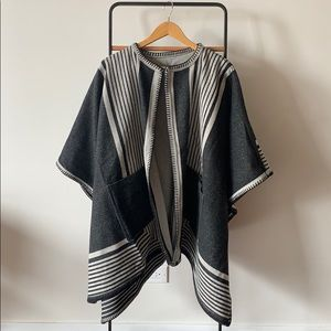 M.I.H. Jeans reversible wool poncho